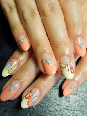 Allure Nail Catalog  » Blog Archive   » ガーリーペイズリー ネイル (31992)