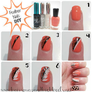 DIY Feather Nails: Mani Monday - Hairspray and Highheels (32700)