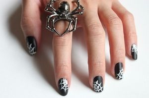 Syl and Sam: 247: tutorial - spiderweb nails (46175)