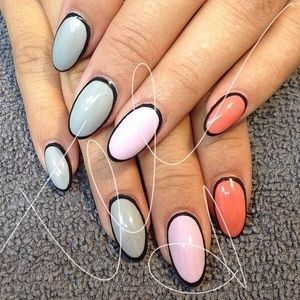 Outline Manicure - Nail Designs Picture (49271)