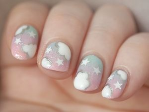 ☆ ★ ☆ ★ ☆ - i redid that really old pastel sky mani from ages... (49518)