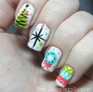The Lacquerologist: Holiday Nail Art: Vintage Christmas Party (49549)