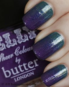 A Quick & Easy Gradation Manicure with Butter London Stroppy (54853)