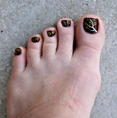 My autumn pedicure a couple of years ago | nails | Pinterest (57719)