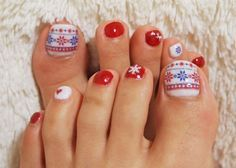 .Christmas toe nails | toe nail designs | Pinterest (57727)