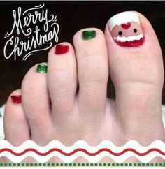 Christmas  Toe Nail Art | Things to Wear | Pinterest (57729)