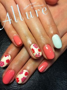 Retro flower nails | Nail Designs | Pinterest (58093)