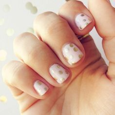 Gold polka dot + Pale pink | Nails | Pinterest (61439)