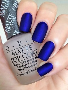 OPI Royal Blue Matte Manicure ~ OPI Blue My Mind, opi Matte Top Coat … (61706)