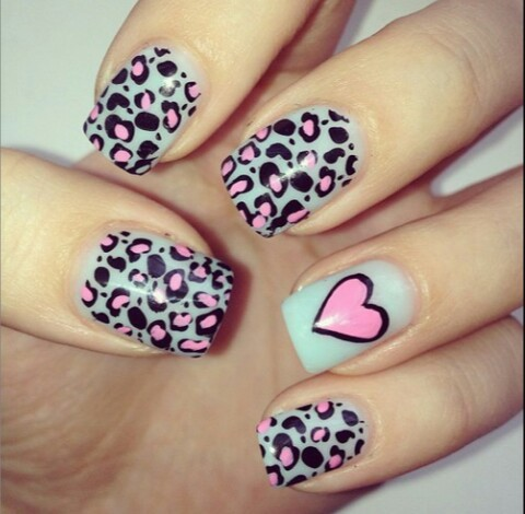 Animal print cool nails  | We Heart It (62948)