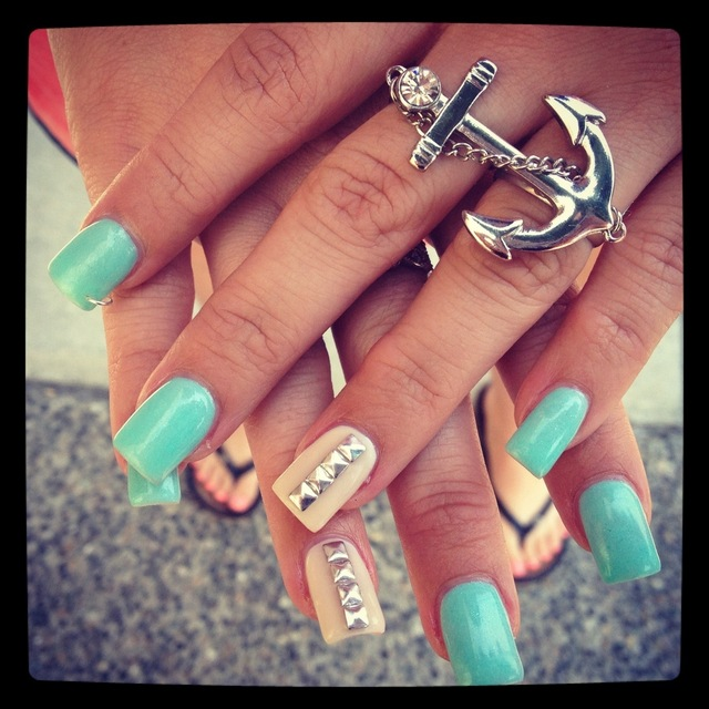 Studded Nails | Nails By Cindy Panagiotou (63163)