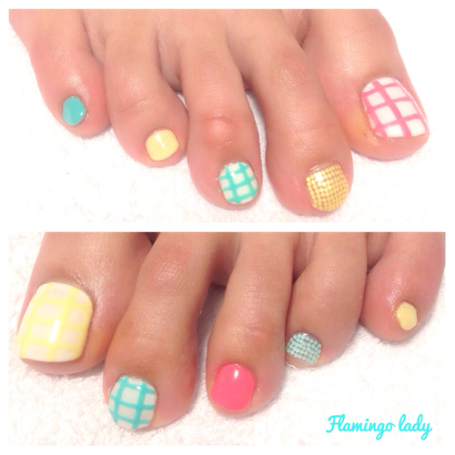 Candy color pedi | We Heart It (63738)