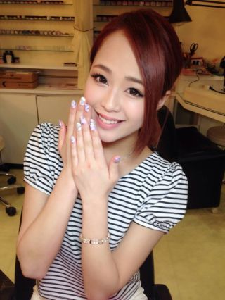 Suzutyasu BLoG (16)|New Nail  タイダイ花柄nailだよ  お得クーポン必見︎ by すずちゃす|CROOZ blog (67049)