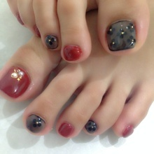 お客様nail~秋♡シースルーフットnail~|Stella大手町店のブログ (101995)