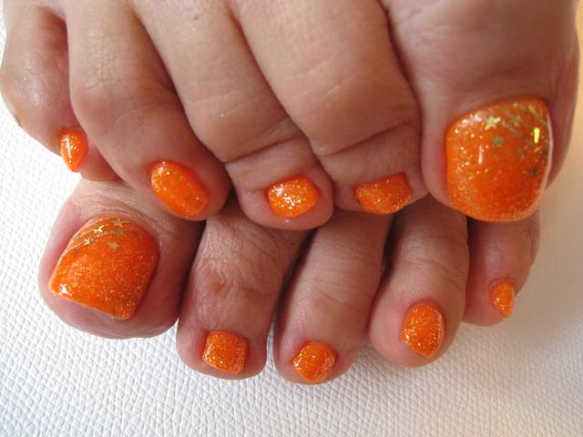 フットジェル 蛍光オレンジ フットジェル 蛍光オレンジ – 笹塚/ネイルサロン/ネイルフェアリー (102065)