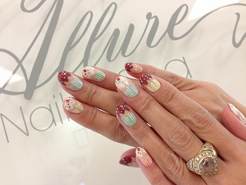 カップケーキネイル♥ Allure Nail & Spa in Hawaii スタッフブログ (102457)