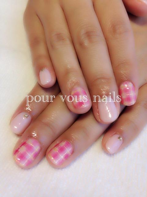 ギンガムチェック : Pourvous nails  ブログ (125439)