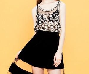Nakira See-Though Velveteen Midi Skirt | We Heart It (126035)