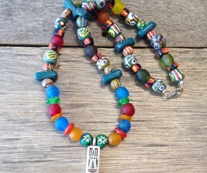 African Trade Bead Necklace, Ethnic, Tribal, Beaded, Handmade, Jewelry | We Heart It (129293)