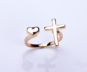 "Gold cross ring ""Telchines"" by OlizzJewelry #olizz #jewelry #etsy #gift #rings #cross #bestfriend 
