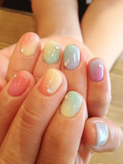 Rainbow (offended by this pinners name, but love some of their pins) | Nail★ | Pinterest (155816)
