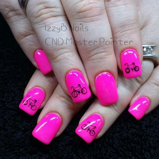 Tracyann Hutchins creates these #Nails with #NeonNailShadows for a charity bike ride   Neon Nail Shadows: The Nail Art Gallery   Pinterest (174774)