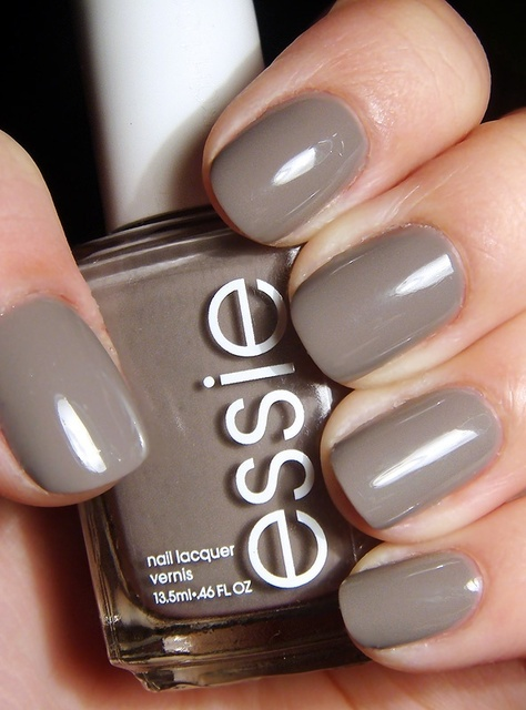 fall nail color? essie chinchilly | nail | Pinterest (176300)
