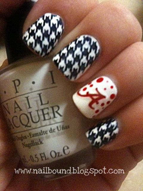 LOL!!! I am so NOT a Bama fan, but I am pinning this for all my Birmingham friends that are. | Nails | Pinterest (176533)