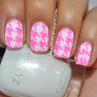 Pink Houndstooth Nails | NAilS. | Pinterest (176548)