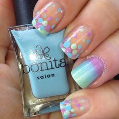 Polka dot turquoise and lavender summer #nails For more fashion and wedding inspiration visit www.finditforweddings.com Nail Art | nail | Pinterest (204268)
