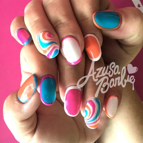 Colorful Trimming  - Nail Art Gallery (250951)