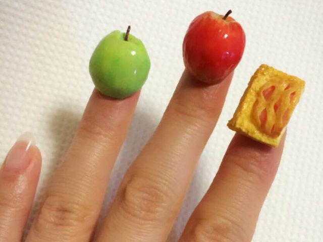 爪にリンゴやアップルパイ?!超立体ネイルアートが可愛すぎる!  | AUTHORs (268480)