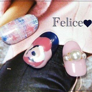 @nail_salon_felice04 - ピンク×ネイビーって可愛くて好き♡#ネイルサロンフェリーチェ#南町田ネイルサロン#町田ネイ... - Pikore (289950)