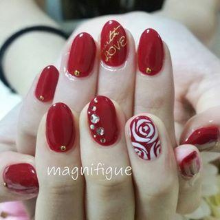 @magnifigue_nail - #nail#네일#ネイルデザイン#ネイルアート#お客様ネイル#ハンドネイル#ワンカラー#ワンカ... - Pikore (289954)