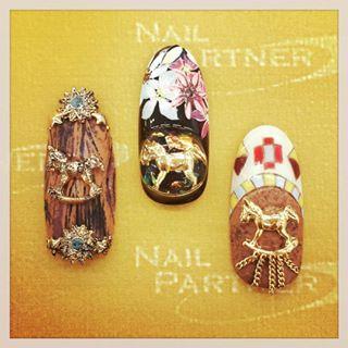 @nailpartner - new!!クロウ 木馬#nailpartner#nail#nailart#gelnail... - Pikore (292771)