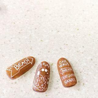 @maco.0524 - 木の板💅🙈🌟💓 #nail #nails #gelnail #nailart #art... - Pikore (292826)