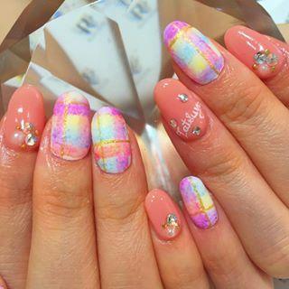 @ravinail - ブランケットネイル✨#gel#gelnail#nails#newnails#nail#na... - Pikore (292944)