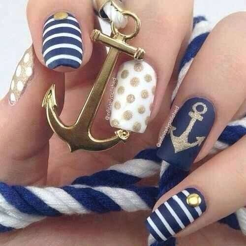 Pretty Anchor nails | The style of a sailor | Pinterest (308946)
