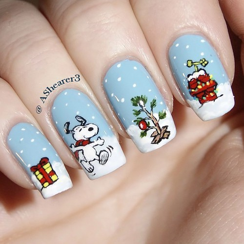 Christmas Nail Art: 28 Festive Designs with Tutorials! by BeautyTNT | We Heart It (331185)