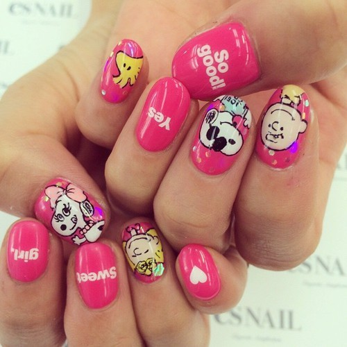 snoopy nail by Chloe | We Heart It (331190)