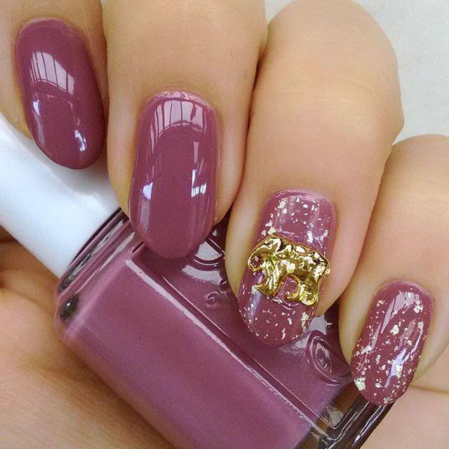 赤 ピンク 紫 ネイル