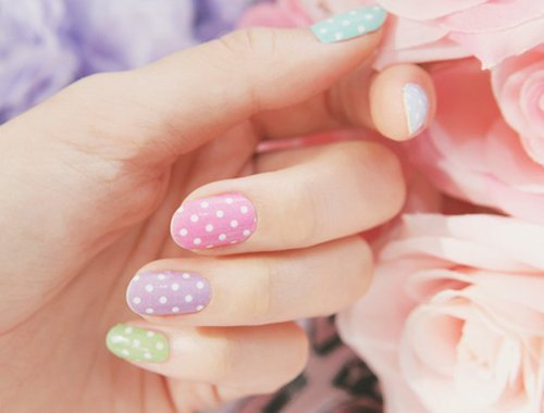 Polka Dot Colorful Nails ♡.♡ by Pastel Sweeteners | We Heart It (391359)