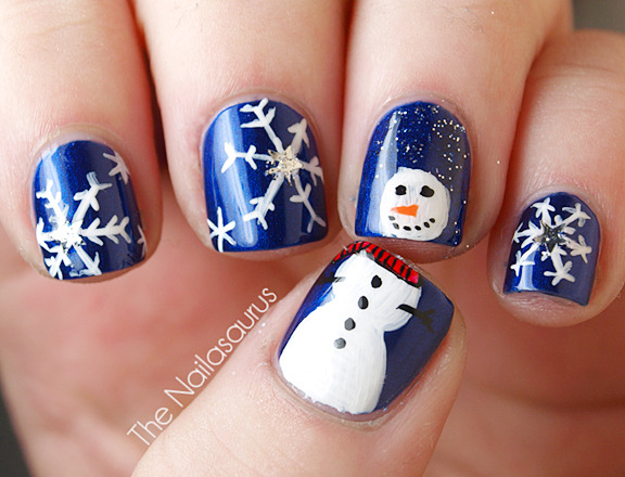 12 Days of Christmas Nails: Day 4... Let it Snow! - The Nailasaurus | UK Nail Art Blog (394388)