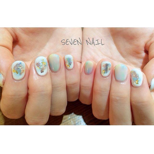 #sevennail#nail#gelnail#art...