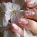 春が待ち遠しい!桜を散りばめた桜ネイルアート♪