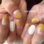 秋ネイルの人気色♡マスタードカラーに合わせたいカラー&デザイン集