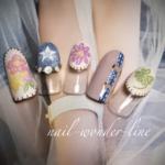 刺繍デザインが大人可愛い指先を演出♡春にぴったりのガーリーな刺繍ネイル8選