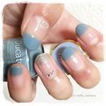 ブルーで涼しげな指先に♡上品なブルーネイルデザイン8選