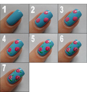 General : Vintage Pink Rose Nail Art Tutorial On Blue Nails Background Color | acrylic glitter nails designs, acrylic nail glitter designs, best french manicure polish, black nail designs, classy acrylic nail designs, classy nail designs, classy nail designs 2013, colorful nail designs, cool easy nail designs for short nails (32715)