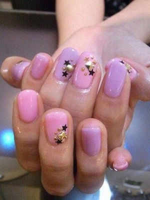 Cute pastel pink and purple starry nails | Nails | Pinterest (35797)